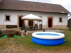 Ferienhaus Vesec - Schwimmbecken